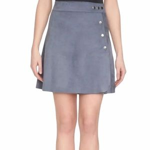 1. State suede wrap mini skirt